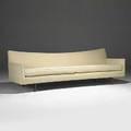 Paul mccobb custom craft large and low mahogany flare arm sofa ca 1950 unmarked 41 x 96 12 x 33