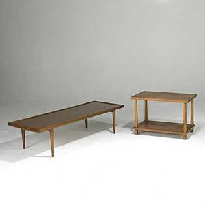 Th robsjohnsgibbings widdicomb mahogany coffee table and side table both signed coffee table 14 x 58 x 22