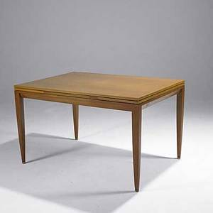 Edward wormley dunbar bleached mahogany extension dining table branded open 30 x 78 x 36 closed 50