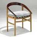 Hovmand olsen teak and white oak side chair danish control label branded tainier 29 x 22 x 21