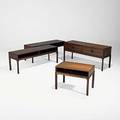 Kai kristiansen aksel kjersgaard grouping of four low rosewood tables smallest branded furniture makers danish control aksel kjersgaard largest with drawers 20 12 x 46 14 x 14 14