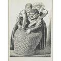 Three prints 20th c rockwell kent american 18821971 wood engraving of mother and child from the canterbury tales framed 8 78 x 6 12 lithograph le jongleur 1921 framed signed ro