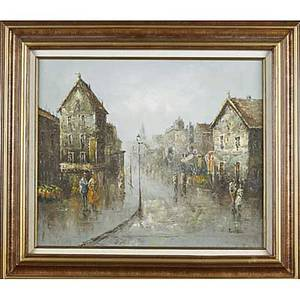 Oil paintings five works most on canvas framed david hyde british 20th c portrait of a man and still life both signed 19th c portrait of a man with violin illegibly signed portrait of a