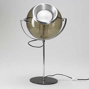Raak table lamp glass chromed and enamel steel unmarked 19 x 12 x 9