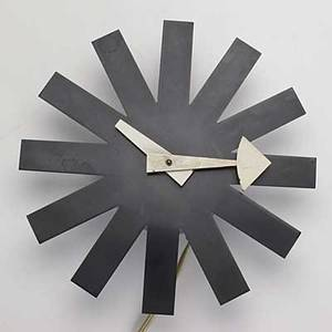 George nelson howard miller electric wall clock 2 12 x 10 dia