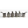 Six russian silver  pliqueajour tea glass holders moscow 1892 antip kuzmichev 88 standard assay master lev fedorovich oleks monogram ew 218 gs 2 116