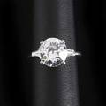 303 oec diamond platinum ring gia report 1122666117 states 949 x 955 x 526 303 cts h vs1 no fluorescence certified and reset into original setting marked t654 size 5 12 provenance the
