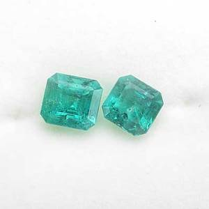 Two unmounted gem emeralds emerald cut 75mm x 78mm and 85mm x 77mm 322 cts tw note unmounted gemstones from the estate of harry b roth 19132008 a longtime member of the diamond dealer c