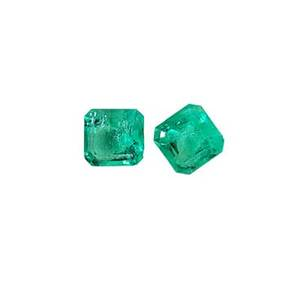 Two unmounted gem emeralds square emerald cut well matched 84mm x 85mm and 82mm x 86mm 56 cts tw note unmounted gemstones from the estate of harry b roth 19132008 a longtime member of t