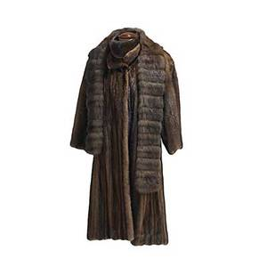 Sable scarf ranch mink coat and head band scarf 6 x 6 brown silk brocade interface swing coat of natural color female skins by maximilian alta moda 42 22 sleeve band with velvet interface