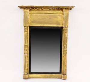 Gilt Wood Regency Wall Mirror