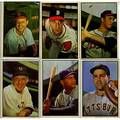 Bowman baseball cards approx 241 color cards 1953 includes 3 32 stan musial 46 ray campanella 92 gil hodges 2 97 eddie mathews and 5 99 warren spahn