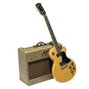 Gibson les paul tv special guitar 1955 serial no 7 3809 with original ga 6 amplifier guitar 39 x 13