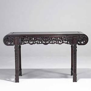 Chinese altar table teak 20th c 59 x 34 12 x 17 12