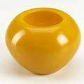 Glass washer in thick mustard yellow glass incised four character qianlong 17361795 mark on base 4