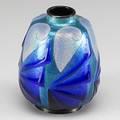 French art deco enameled vase ca 1920 signed h marty limoges 5