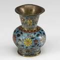 Ming dynasty cloisonne urn floral decoration and applied lion mask gilt handles four character jintai 14491457 mark on the base and of the period 4 12