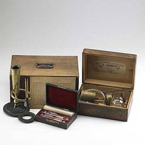 Wine testing equipment ebulliscope by e malligand alcoholmetre by chevalier cased set of four mercury thermometers all 19th c largest 13 x 6 x 8 12