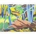 Liz dauber untitled pastel on paper framed 10 12 x 13 12