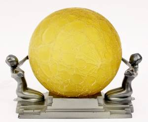 Frankart Figural Globe Lamp L230