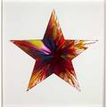Damien hirst british b 1965 spin painting star acrylic on paper framed signed on stamp on verso 21 12 x 21 12 provenance private collection note created to celebrate the opening of