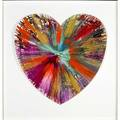 Damien hirst british b 1965 spin painting heart 2009 acrylic on paper framed signed and dated on stamp on verso 21 x 20 12 provenance private collection note created to celebrate th