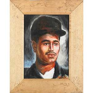 Artist unknown american 20th c untitled portrait of la ii acrylic on canvas frame by la ii tagged on frame 19 12 x 15 12 provenance the estate of martin wong