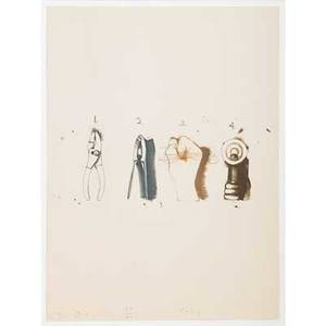 Jim dine american b 1935 nutcracker 1973 lithograph in colors framed signed dated and numbered 8810 30 x 22 14 sheet publisher petersburg press new york and daytons gallery 12 n