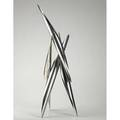 Alexander liberman american 1912  1999 untitled stainless steel signed 30 high provenance private collection new york