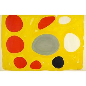 Alexander calder american 18981976 flat mobile 1974 lithograph in colors framed signed and numbered 43100 28 12 x 44 sight provenance private collection new jersey