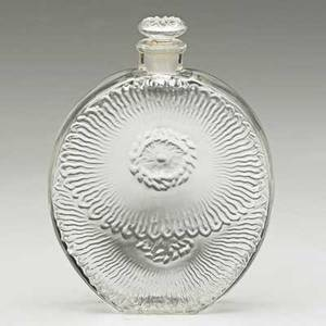 Lalique roger  gallet pavots dargent perfume bottle in clear glass france 1930s m p 949 no 16 molded r lalique 3 14 x 2 12