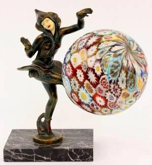 Art Deco Gerda Gerdago Style Figural Lamp