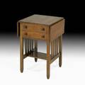 Stickley brothers rare sewing table grand rapids mi ca 1910 unmarked closed 28 x 18 x 18 open 28 x 34 x 18