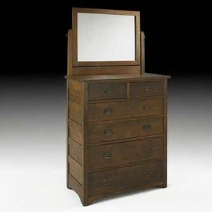 L  jg stickley onondaga shops tall chest of drawers with mirror fayetteville ny ca 1903 unmarked 76 x 40 x 20 12 to top 47