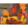 Leonard nelson american 19121993 untitled 1951 oil on linen framed signed and dated 22 14 x 30 provenance private collection new jersey