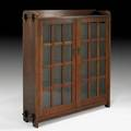 L  jg stickley onondaga shops twodoor bookcase fayetteville ny ca1904 unmarked 53 x 49 x 12 note an unusually fine example of this form