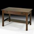 L  jg stickley onondaga shops singledrawer library table fayetteville ny ca 1902 rare decal 29 14 x 48 x 30