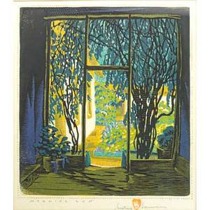 Gustave baumann american 18811971 rare color woodblock print morning sun santa fe nm in original gessoed frame pencil signed titled and numbered iii 95125 50 image 10 12 x 9 14
