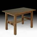 Gustav stickley library table eastwood ny ca 1906 unmarked 30 x 48 x 29 12