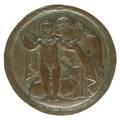 Bertha kling american b 1910motherhood ca 1925 bronze medallion signed b kling 13 diameter provenance the eileen and marvin reingold collection