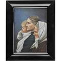 Frederick w walther germanamerican 18951975 miniature watercolor portrait on ivory three generations with mother child and grandmother framed signed 2 34 x 3 34 sight