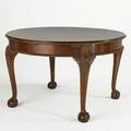 Chippendale style dining table mahogany with ball and claw feet and internal 24 leaf early 20th c 30 x 48 12 dia