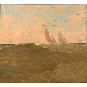 William anderson sherwood american 18751951 oil on canvas estnordest framed signed 23 x 26 provenance the artists studio bruges belgium label on verso