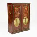 Golf club collectors cabinet mahogany with paint and stenciled decoration for the gleneagles golf club early 20th c 62 12 x 47 34 x 18 14