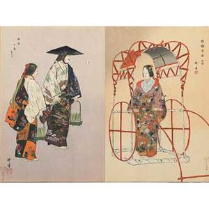Book of kabuki fiftyseven japanese theater design woodblock prints in foldout book late 19thearly 20th c each page 9 34 x 14 12