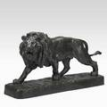 After louis vidal french 18311892 bronze sculpture of a lion with verdigris patination 20th c signed vidal 1874 14 x 25 x 6 12