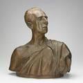 Bronze bust salvador de madariaga in classical roman dress signed sde madariaga 1919 codina madrid 24 x 21 x 12