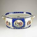 Royal vienna twohandled basin with transfer decorated reserves 19th20th c beehive mark 8 14 x 22 x 15
