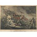 18th c german engraving handtinted image the battle at bunkers hill near boston after the painting by john trumbull engraved by johann gotthard von muller 1798 framed 22 x 30 12 s