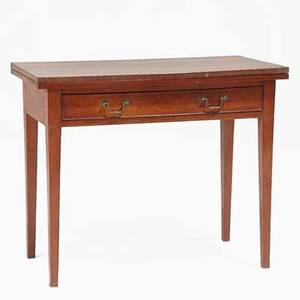 Federal games table cherry with one drawer ca 1810 29 12 x 36 x 18